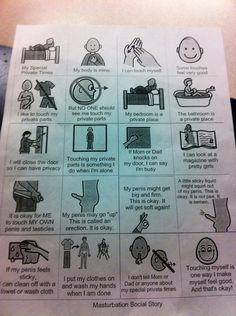 I work in a psychiatric hospital. Today I found this posted in the adolescent autism unit. Masturbation Social Story. - Imgur