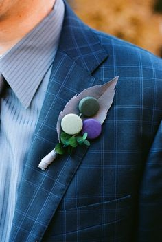 Boutonniere de botones para el #novio / Button boutonniere for the #groom