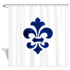 Fleur De Lis 3 Shower Curtain on CafePress.com
