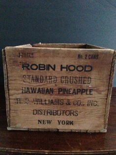 Vintage Advertising Box crushed pineapple by PastThymesAntiques, $29.00