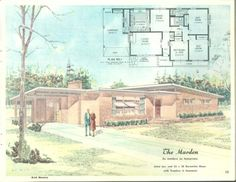 Home of color : custom designed plans of merit/ The Marden, 3 Bed, 2 Bath, Carport
