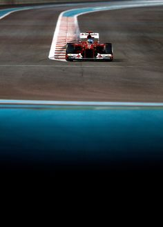 Fernando Alonso of Spain and Ferrari drives during the Abu Dhabi Formula One Grand Prix
