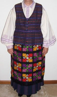 hand-woven  traditional Lithuanian costume