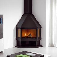 Portrait of Simplify Your Indoor Warming Stuff with Corner Wood Burning Stove for Gorgeous Interior Nuance