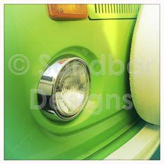 Neon Green VW bus #SandbarDesigns #VWBus #VW #BusPics #Volkswagen #BusyDreamin.com
