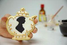 Jane Austen Cookies- continuing silhouette motif