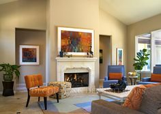 The color of your new living room should be harmonious with the rest of your home.  Since this room will be used by the whole family, be sure that everyone weighs in on your final color selection.