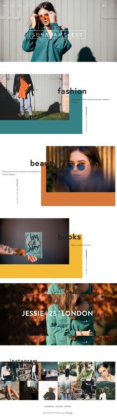 Website Design for SunbeamsJess | Bold Colours | Squarespace Design | Design Inspiration | #websites #WebDesign