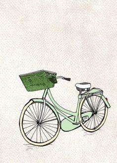 amsterdam bike illustration