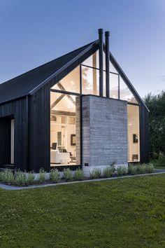 Barn House Design, Modern Barn House, Barn House Plans, Modern House Design, Barn Style Houses, Barn Houses, Scandinavian Architecture, Industrial Architecture, House Architecture