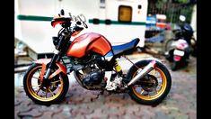 Yamah fz modified, Front suspension replaced with KTM upside down suspension, Single seat, Custom LEF tail light. Yamaha Fz Bike, Loud Exhaust, Bike Design, Scrambler, Youtube, Motors, Motorcycles, Skulls, Cool Bikes
