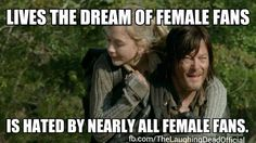 This female fan really likes the idea of Beth and Daryl pairing up.  :) I don't hate her. I love them both!