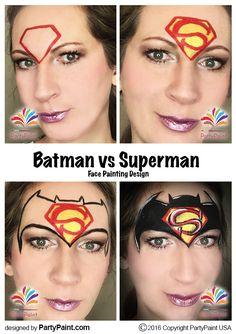 Batman vs Superman Face Painting Design
