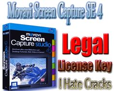 Get Movavi Screen Capture SE 4 With Legal License Key