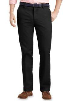 IZOD Black Slim Fit American Chino Flat Front Wrinkle-Free Pants
