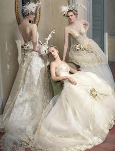 for those who plan for such outdoor weddings or fancy-whimsical wedding party that take the bride as the center attention whenever the party is held. French Wedding Dress, Wedding Dress Cake, Wedding Dresses 2014, Wedding Dress Styles, Bridal Dresses, Wedding Gowns, Wedding Bride, Bridal Beauty, Fancy