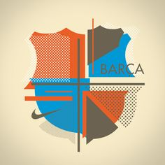 Nike FC Barcelona on Typography Served Fc Barcelona, Barcelona Futbol Club, Football Icon, Football Posters, Football Art, Soccer Logo, Nike Soccer, Soccer Cleats, Typography Served