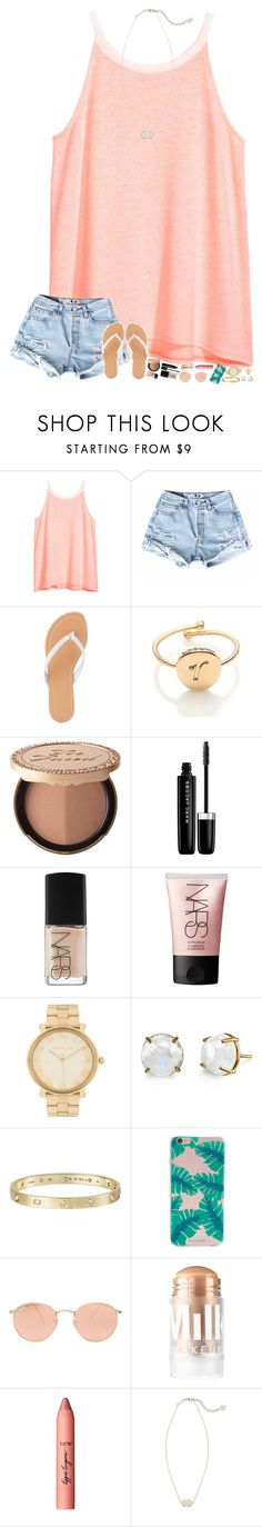 """F is for Flip Flops"" by alwxys-dreaming ❤ liked on Polyvore featuring H&M, Charlotte Russe, Kate Spade, Too Faced Cosmetics, Marc Jacobs, NARS Cosmetics, Michael Kors, Irene Neuwirth, Cartier and Forever 21"