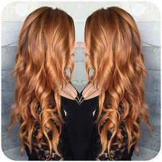 Golden copper hair color