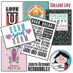Judith Gorgone is an independent artist creating amazing designs for great products such as t-shirts, stickers, posters, and phone cases. Big Spring, Finding Yourself, Make It Yourself, Student Discounts, College Life, College Students, Dorm, Back To School, Upcycle