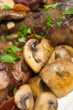 Coq Au Vin - Julia Child. What I made for my first 'grown-up' dinner party -age 12 or 13