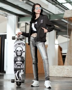 11stitches Frauen Bomberjacke schwarz Longboards, Punk, Portrait, Style, Fashion, Sweat Pants, Jackets, Woman, Swag