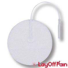 "American 3B Scientific - W63214 - Comfort-Stim Elite White Cloth 3"" Round, 4 pack"