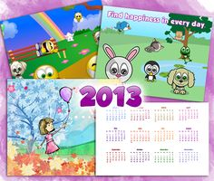 Download this Cute Customizable Calendars for 2013 and other free printables from MyScrapNook.com