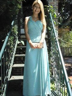 A-line One Shoulder Chiffon Floor-length Ruched Evening Dresses