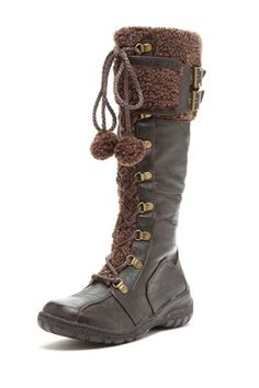 Saniya Faux Fur Trim Tall Boot  (Black or Brown) $45.00