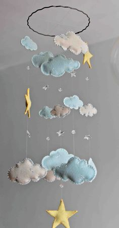 Hey, I found this really awesome Etsy listing at https://www.etsy.com/listing/223114930/baby-blue-and-white-felt-clouds-with