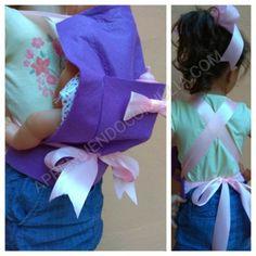 Manualidad: Portabebé Mei Tai para muñecas con fieltro - Aprendiendo con Julia
