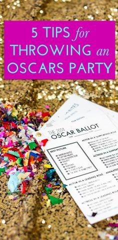 How to throw a last minute #Oscars party