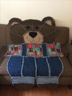 Teddy Bear Quilt Pattern, Owl Quilt Pattern, Rag Quilt Patterns, Baby Rag Quilts, Flannel Quilts, Quilting Projects, Quilting Designs, Sewing Projects, Sewing Machine Quilting