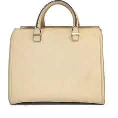 Pre-owned Victoria Beckham Taupe Buffalo Leather Victoria Handbag ($989) ❤ liked on Polyvore featuring bags, handbags, bolsos, taupe, handle bag, buffalo leather handbags, beige purse, taupe purse and preowned handbags