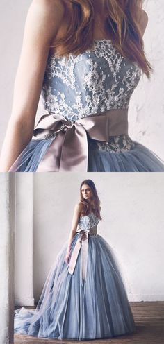 Quinceanera Dress Ball Gown, Strapless Long Wedding Dress #Graduationdresses