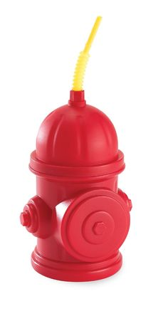 Fireman Fire Truck Party Supplies - Fire Hydrant Sippy Cups with Straws by BirthdayExpress Fireman Party, Firefighter Birthday, Fireman Sam, Sippy Cups, Paw Patrol Party Favors, Cumple Paw Patrol, Paw Patrol Birthday, Third Birthday, Birthday Ideas