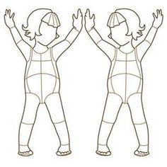 Free Fashion Design Croquis | Children Fashion Croquis Templates | Children Fashion Figure 002