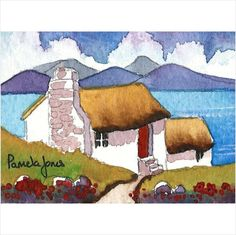 Aceo Original Connemara Cottage Ireland