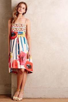Didier Parakian Brushed Blooms Dress #AnthroFave