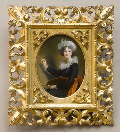 Autoportrait de Madame Vigée Lebrun par le Chevalier Cherici époque 19ème. #Self-#Portrait of Madame #Vigee #Lebrun by Chevalier Cherici 19th century. For sale on #Proantic by Galerie Laury-Bailly