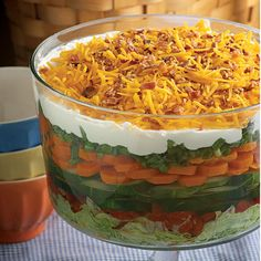 7th-Heaven Layered Salad - fit for a party !!!