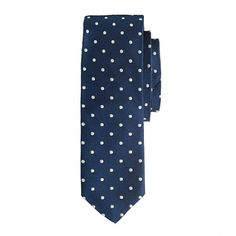 Classic polka dot tie. Yes! Silk Cambridge tie in large dot