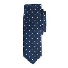 Silk Cambridge tie in large dot