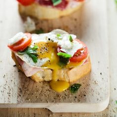 Crostini are great not only as appetizers for bigger meals but for breakfast too.