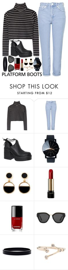 """""""Untitled #339"""" by l-have-secrets ❤ liked on Polyvore featuring Topshop, Windsor Smith, Warehouse, Lancôme, Chanel, Prada and L. Erickson"""