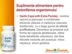 #Garlic Caps with Extra #Parsley - capsule cu #usturoi si #patrunjel. #detoxifiere #calivita