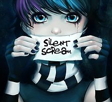 Silent Scream - Just let me be who I am. It's what you really need to understand and I hope so hard for the pain to go away. And it's torturing me but I can't break free so I cry and cry but just won't get it out.the silent scream. Scream, Anna Blue, Emo Anime Girl, Emo Love, Dark Drawings, Emo Scene, Emo Girls, Dark Anime, Blue Art