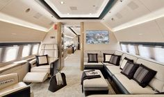 the inside of this plane is so so nice want one of these