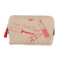 The fabled make up tip says lips or eyes, but never both; well thanks to Anya Hindmarch the two can finally be combined in cosmetic glory! 21st Birthday Gifts, In Cosmetics, Makeup Bags, Anya Hindmarch, Eye Make Up, School Stuff, Bag Accessories, Two By Two, Presents